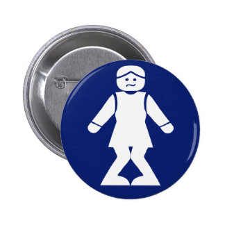 Restrooms (HONG NAM) ⚠ Thai Asian Toilet Sign ⚠ 6 Cm Round Badge
