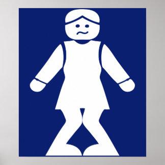 Restrooms (HONG NAM) ⚠ Thai Asian Toilet Sign ⚠ Poster
