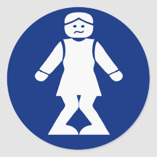 Restrooms (HONG NAM) ⚠ Thai Asian Toilet Sign ⚠ Round Sticker