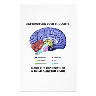 Restructure Your Thoughts Make The Connections Customized Stationery