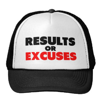 Results or Excuses | Fitness Quote Cap