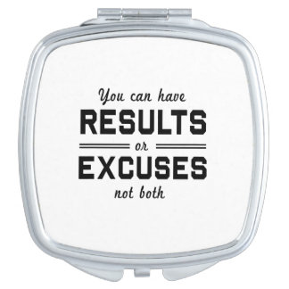 Results or Excuses Mirror For Makeup