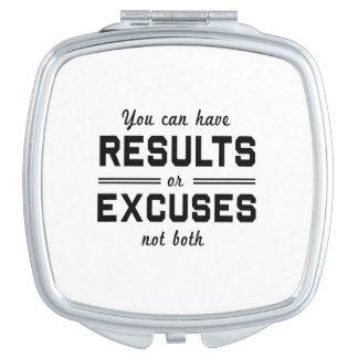 Results or Excuses Vanity Mirror