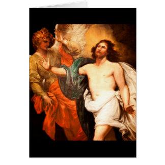 Resurrected Christ Gazing Upward Card
