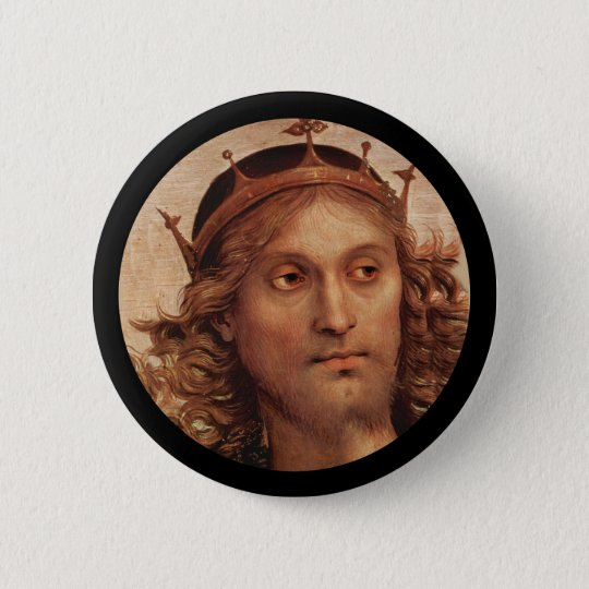 Resurrected Jesus in Crown 6 Cm Round Badge