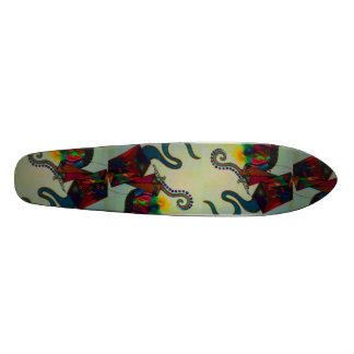resurrection. abstract mixed medium drawing 20 cm skateboard deck
