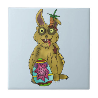 Resurrection Bunny Ceramic Photo Tile