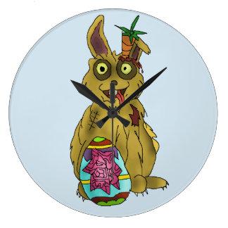 Resurrection Bunny Round Wall Clock