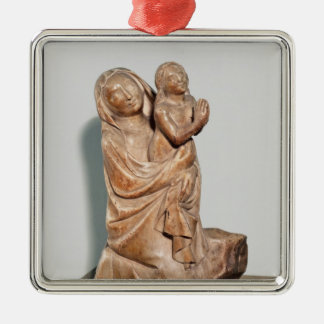 Resurrection of a Little Girl Silver-Colored Square Decoration