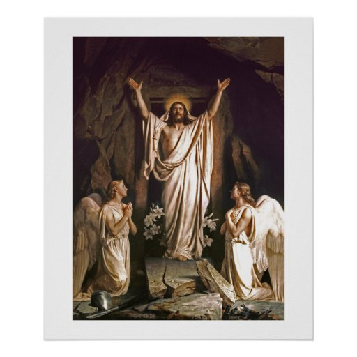 Resurrection of Christ by Carl Bloch. Poster