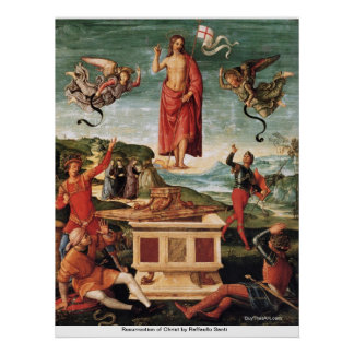 Resurrection of Christ by Raffaello Santi Poster