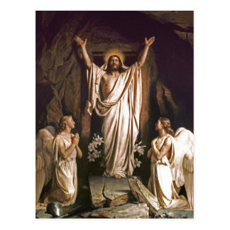 Resurrection of Christ. Fine Art Easter Postcards