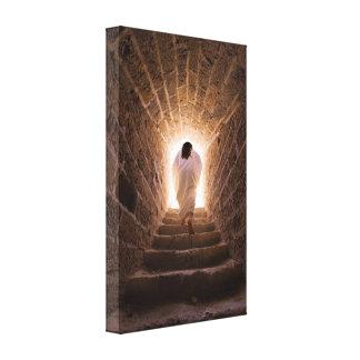 Resurrection of Jesus Christ wrapped canvas print