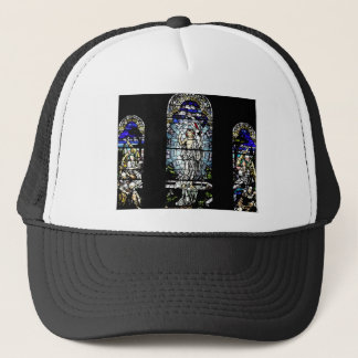 Resurrection of Jesus Stained Glass Window Trucker Hat