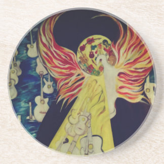 Resurrection Temple of Guitars Sandstone oaster Coaster