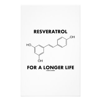 Resveratrol For A Longer Life (Chemical Molecule) Personalized Stationery