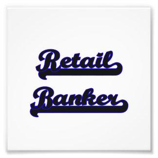 Retail Banker Classic Job Design Photographic Print
