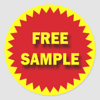 RETAIL SALE BADGE - FREE SAMPLE CLASSIC ROUND STICKER