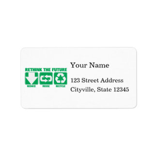 Rethink The Future, Recycle Address Label