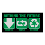 Rethink The Future, Recycle Print