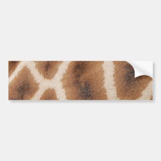 Reticulated Giraffe Pattern Wild Animal Print Gift Bumper Sticker