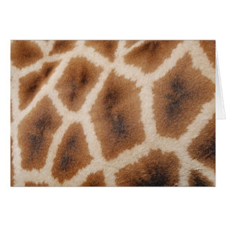 Reticulated Giraffe Pattern Wild Animal Print Gift Card