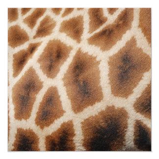 Reticulated Giraffe Pattern Wild Animal Print Gift 13 Cm X 13 Cm Square Invitation Card
