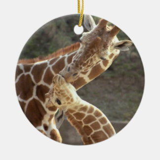 reticulated giraffes christmas ornament