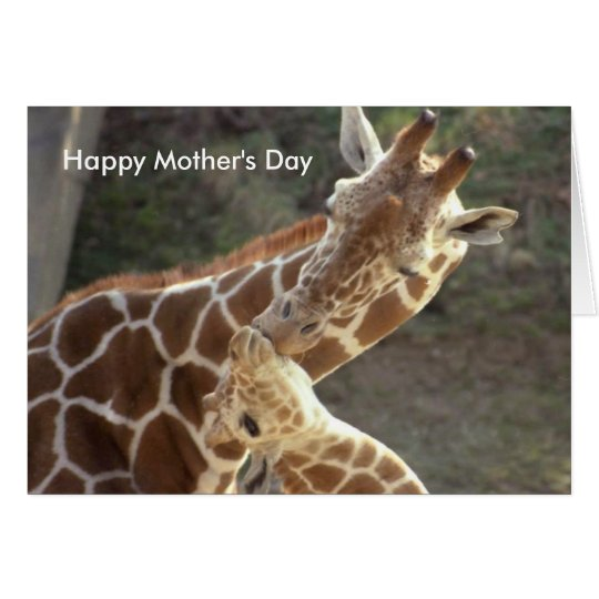 reticulated giraffes, Happy Mother's Day Card