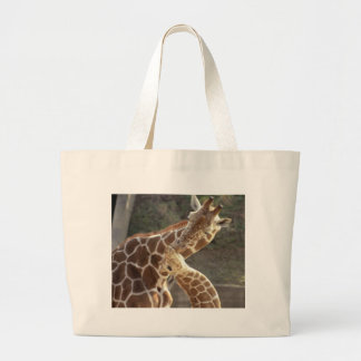 reticulated giraffes large tote bag