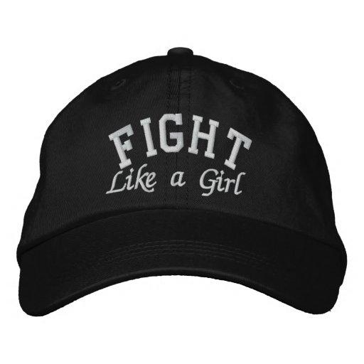 Retinoblastoma Cancer - Fight Like a Girl Baseball Cap