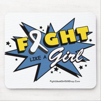 Retinoblastoma Cancer Fight Like A Girl POW! Mouse Pad