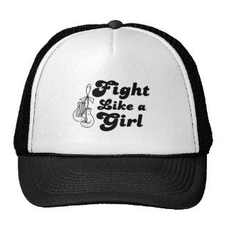 Retinoblastoma Fight Like A Girl Motto Cap