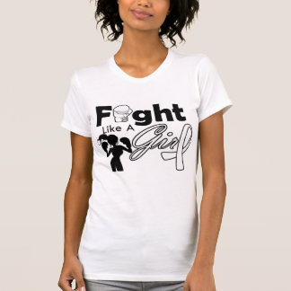Retinoblastoma Fight Like A Girl Silhouette T Shirts