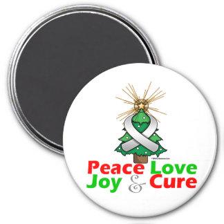 Retinoblastoma Peace Love Joy Cure Refrigerator Magnet