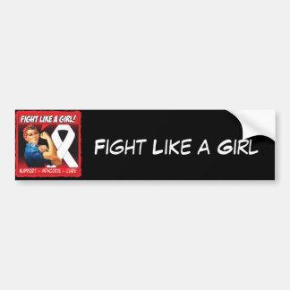 Retinoblastoma Rosie Riveter - Fight Like a Girl Bumper Stickers