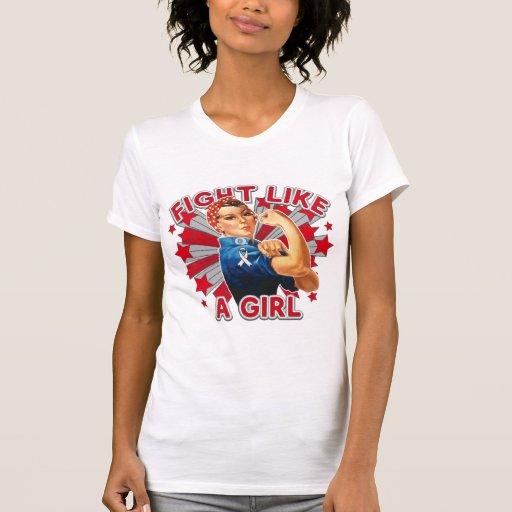 Retinoblastoma Vintage Rosie Fight Like A Girl Shirts