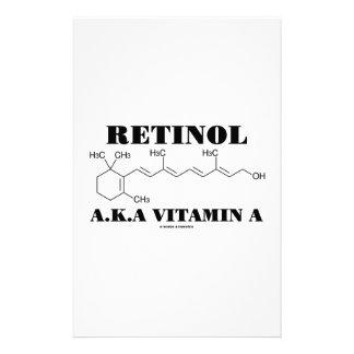 Retinol A.K.A. Vitamin A (Retinol Molecule) Personalized Stationery
