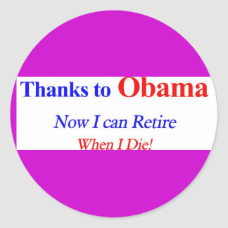 Retire at Death Stickers