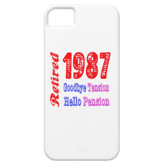 Retired 1987 , Goodbye Tension Hello Pension iPhone 5 Cover