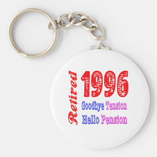 Retired 1996 , Goodbye Tension Hello Pension Key Chain