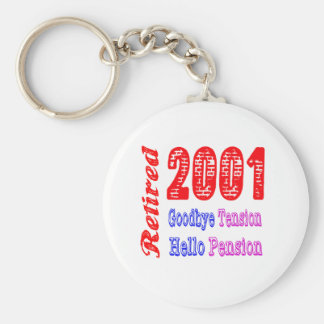 Retired 2001 , Goodbye Tension Hello Pension Key Chain