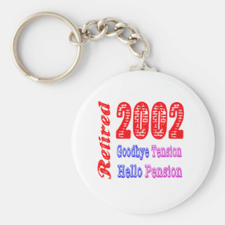 Retired 2002 , Goodbye Tension Hello Pension Key Chain