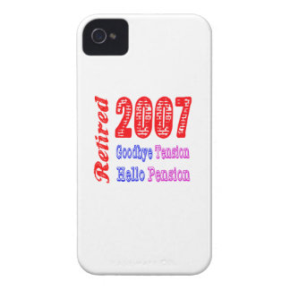 Retired 2007 , Goodbye Tension Hello Pension iPhone 4 Cover