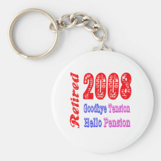 Retired 2008 , Goodbye Tension Hello Pension Keychain