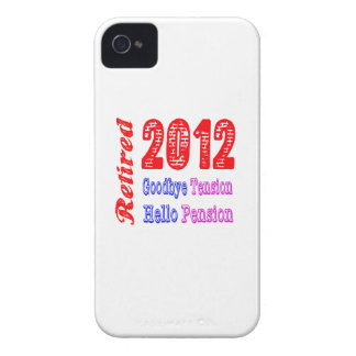 Retired 2012 Goodbye Tension Hello Pension iPhone 4 Case