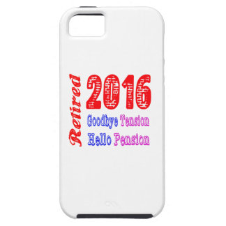 Retired 2016 , Goodbye Tension Hello Pension Cover For iPhone 5/5S