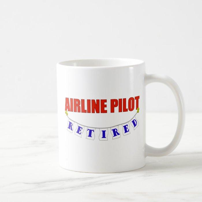 RETIRED AIRLINE PILOT COFFEE MUG