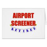 RETIRED AIRPORT SCREENER GREETING CARDS