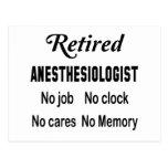 Retired Anaesthesiologist, No job No clock No Postcard